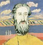 Картина Малевича Голова крестьянина.