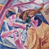 Под перголой в Неаполе (У. Боччони, 1914 г.)