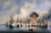 Синопская битва (А.П. Боголюбов, 1860 г.)
