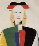 Картина Малевича Девушка с гребнем в волосах.