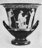 Кратер с изображением Гермеса и младенца Диониса