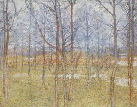 Живопись Казимира Малевича Весенний пейзаж.