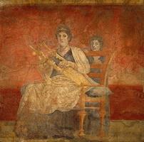 Римская фреска (40—30 г. до н.э).