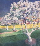 Картина Казимира Малевича Яблоня в цвету.