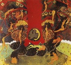 Казимир Северинович Малевич. Картина Дуб и дриады.