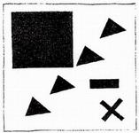 Супрематическая группа с использованием треугольника.