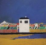 Живопись Казимира Малевича Пейзаж с белым домом.