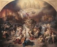 Разрушение Иерусалима (В. фон Каульбах, фреска с картона)