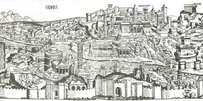 Вид города Рима (Я. Франк-Дитрих, гравюра)