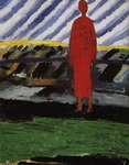 Картина Казимира Малевича Красная фигура.
