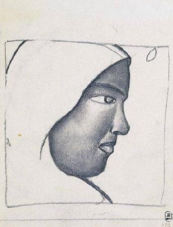 Женская голова в профиль (Малевич К.С.)