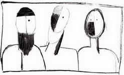 Картина Казимира Севериновича Малевича Три головы.