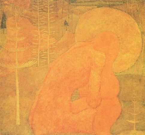Эскиз фресковой живописи. Молитва.
