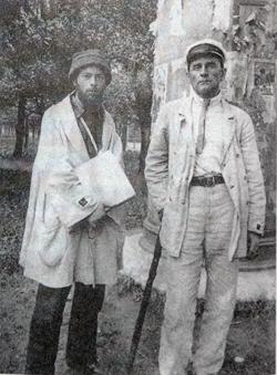 Л. М. Лисицкий и К. С. Малевич. Лето 1920 года. Витебск