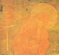 Картина Малевича Эскиз фресковой живописи. Молитва.
