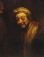 Автопортрет с муштабелем (Рембрандт)