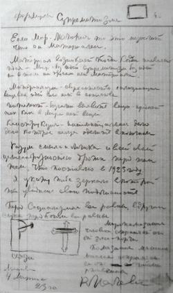 Формулы Супрематизма (1923 г.)