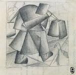 Картина Малевича Крестьянка с ведрами.