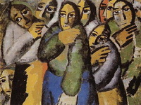 Картина Казимира Малевича Крестьянки в церкви.
