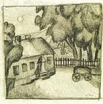 Казимир Северинович Малевич. Картина Дом в ограде.