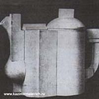 Фарфоровая модель чайника. 1923