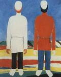 Две мужские фигуры (В белом и красном).