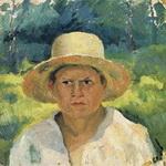 Портрет Казимира Малевича Голова мальчика в шляпе.
