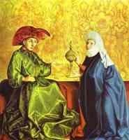 Соломон и Царица Савская. 1434. Северное Возрождение в Германии