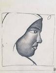 Картина Казимира Малевича Женская голова в профиль.