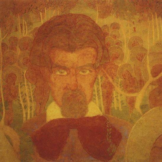 Эскиз фресковой живописи (Автопортрет)