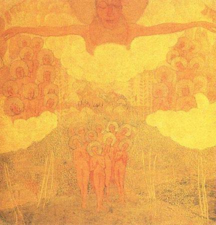Эскиз фресковой живописи. Торжество неба.