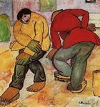 Картина Казимира Севериновича Малевича Полотеры.