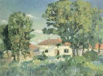 Живопись Казимира Севериновича Малевича Пейзаж с белыми домами.