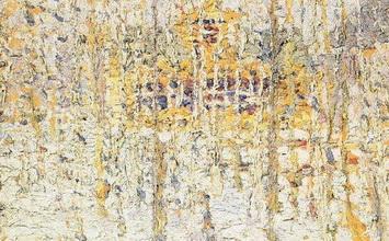 Живопись Казимира Малевича Пейзаж с желтым домом (Зимний пейзаж).
