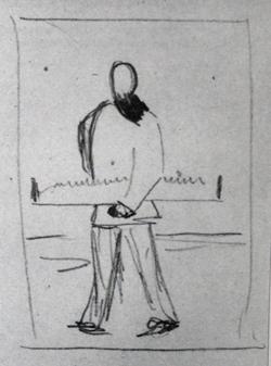 Человек с пилой (Ок. 1930 г.)
