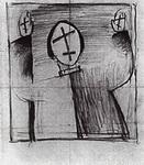 Картина Казимира Севериновича Малевича Мистик.