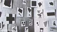 Экспозиция последней выставки футуристов. 1915