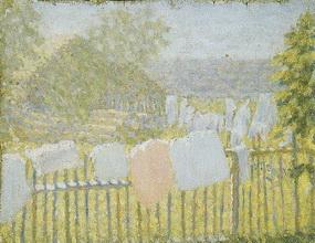 Картина Казимира Малевича Белье на заборе.