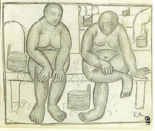 В бане (Малевич К.С.)